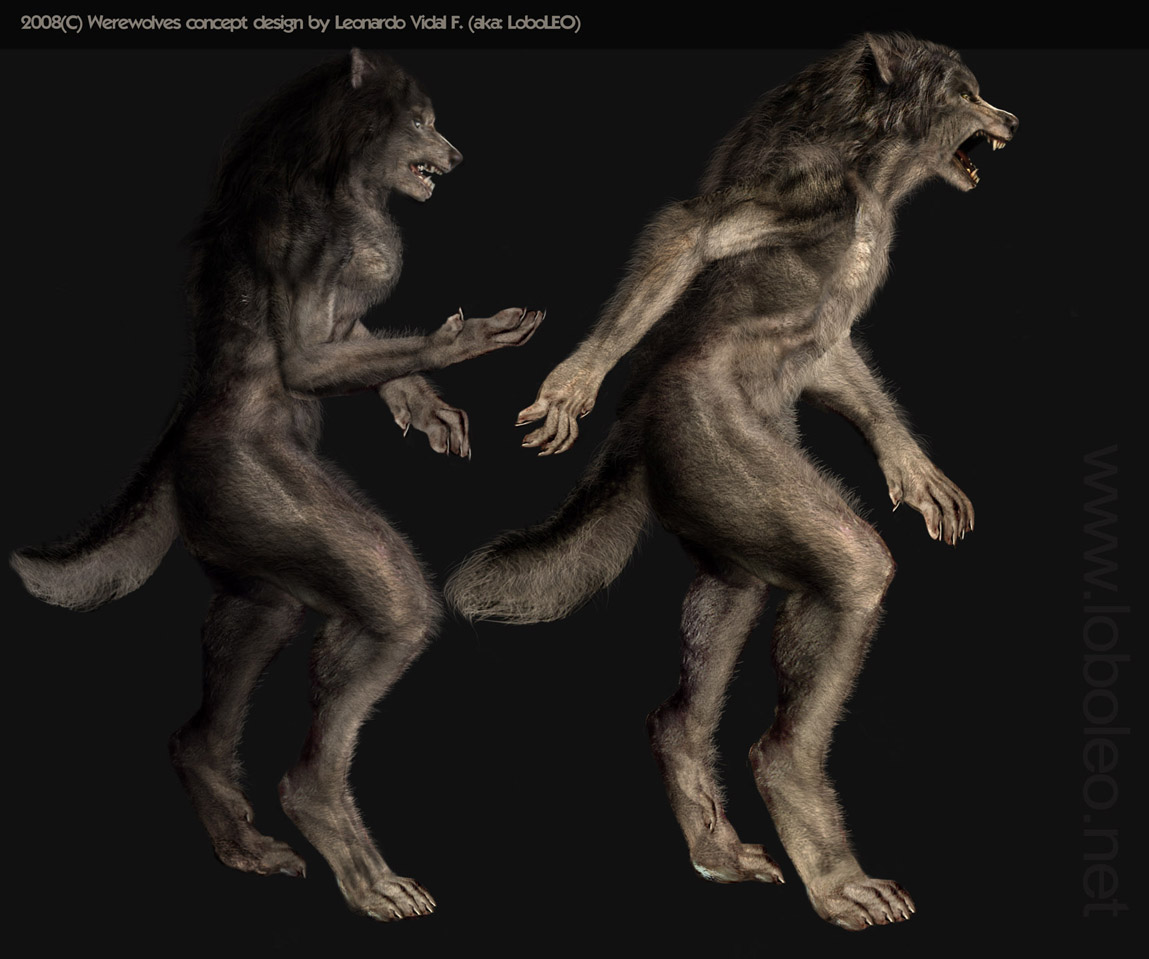 werewolf and nude girl